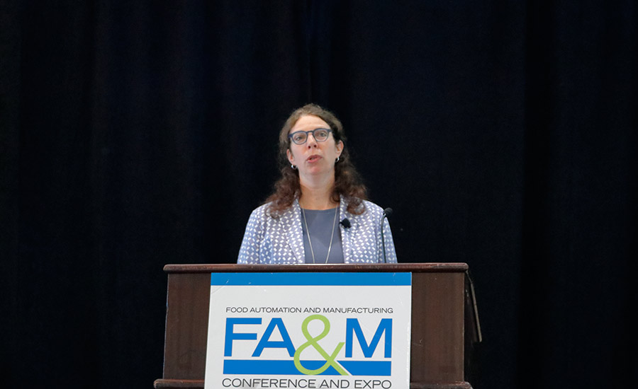Gabrielle Kalkwijk presents keynote address at FA&M