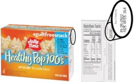 Jolly Time pop Corn recalls Healthy Pop Kettle Corn 100's