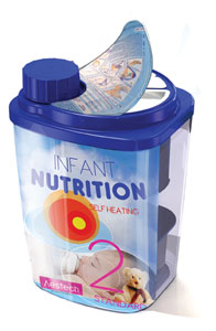 self-heating baby formula