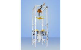 MTS custom bulk bag discharge system
