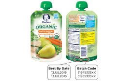 Gerber recalls two organic pouch products for packaging defect