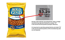 pretzel recall for peanut allergen