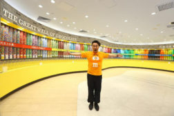 M&Mâ??S celebrates opening in Asia with great wall of chocolate