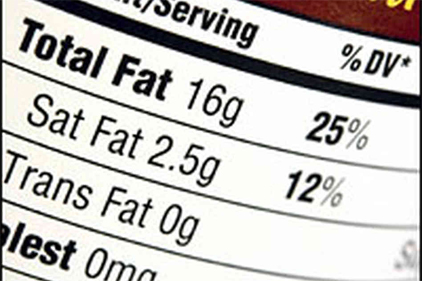 Nutrition facts label to be updated