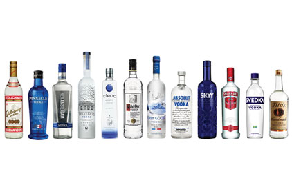 Vodka sales make up one-third of the total US spirits market