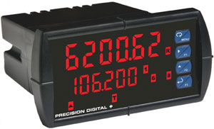 Precision Digital ProVu PD6262 and PD6363 dual-input flow rate/ totalizers