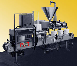 The Hinds-Bock automatic filling and lidding system