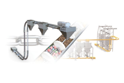 The Modern Process Equipment Chain-Vey tubular drag conveyor