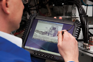 The HaverService Pad industrial-grade handheld tablet