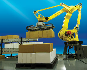 the Fanuc M-410iC/185 palletizing robot