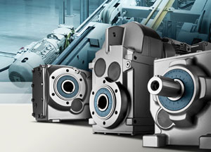 The Siemens Simogear gear motor for conveyor applications in the packaging industry
