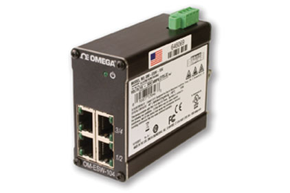 Omega OM-ESW-100 compact IEEE 802.3 layer 2 network unmanaged industrial Ethernet switches