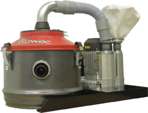 The Ruwac Extract Vac compact, point-of-source vacuum