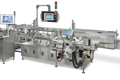 The NJM servo-driven Model 326 AUTOCOLT IV inline pressure-sensitive labeler