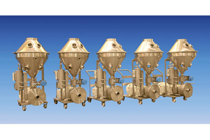 Ross high-shear mixers with solids/liquid injection manifold technology