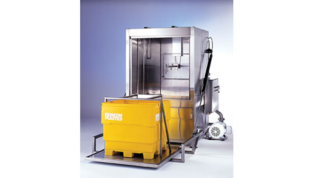 The BW-1000 bin washer from Douglas Machines is constructed of 304 stainless steel