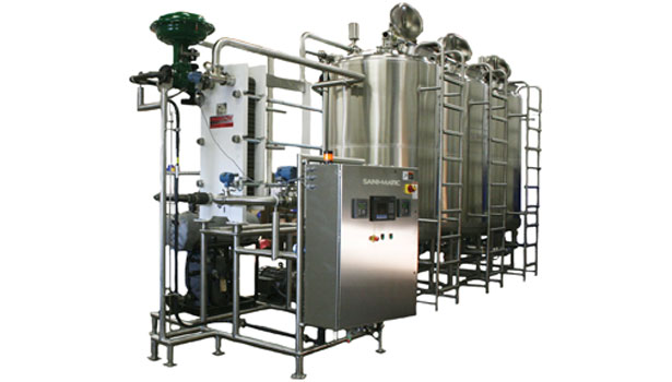 This multi-tank CIP system works with cleaners/sanitizers and can be programmed for automatic operation as part of a plantâ??s process control system.