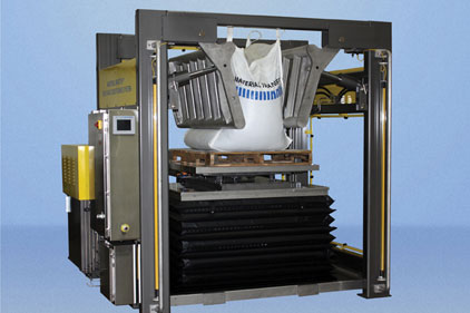 The Material Transfer bulk bag conditioning system returns materials that have solidified, hardened or agglomerated