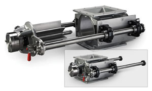 ACS Valves Quick-Clean cast stainless steel, tool-less rotary airlock valves