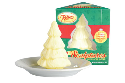 Butter sculptures, created in three designs by Kellerâ??s Creamery