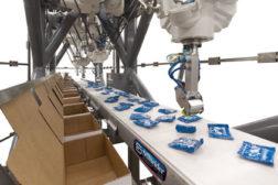 the Schneider top-loading, robotic, vertical carton/case loader