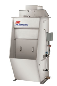 the AAF International Type LVN RotoClone hydrostatic precipitator
