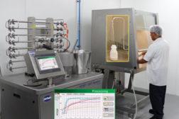 The TERLET-OMVE USA Model HT220 inline sterilization system