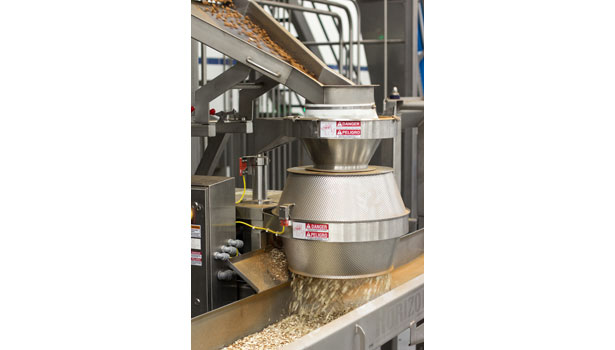 Blue Diamond processes almonds in a continuous, hot batch, process. Plus, almonds can be sliced, diced or slivered with changeovers conducted on the fly. Photo by Candy Padilla.