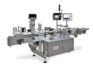 the NJM Model 126 Trotter W pressure-sensitive labeler