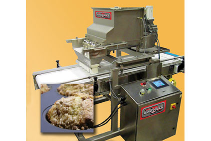 The Hinds-Bock Model 5A-SD moist streusel target depositor