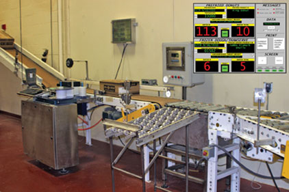 automated labeling line