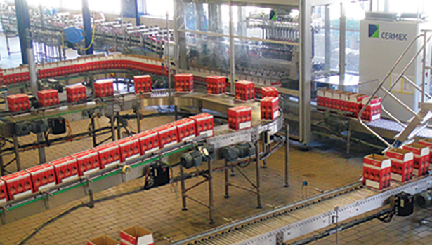 Bacardi-Martini plant packaging line