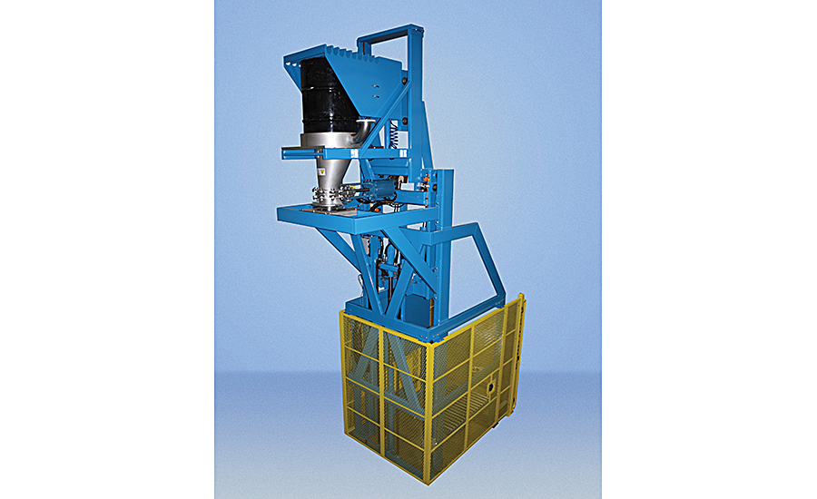 Lift and dump drum dumper