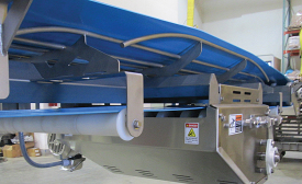 Troughed rod bed conveyor