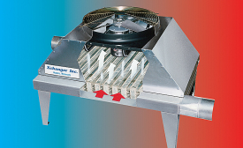 Conveyor heat exchangers