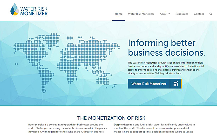 Water Risk Monetizer