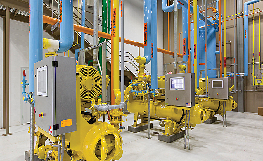 Ammonia refrigeration machinery room