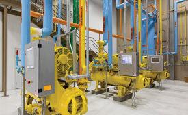 Ammonia refrigeration machinery room