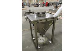 3-A-certified flexible screw conveyor and hopper