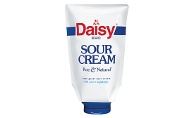 Daisy sour cream in flexible pouch