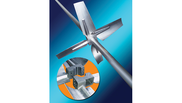 Hydrofoil mixing impellers