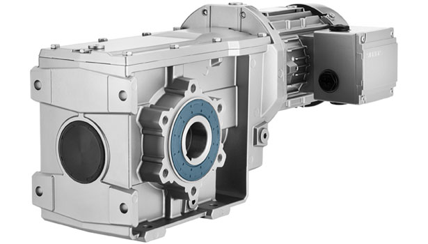 Siemens SIMOGEAR two-stage helical bevel gear motor series