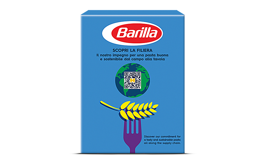 QR codes on select Barilla products help to trace food
