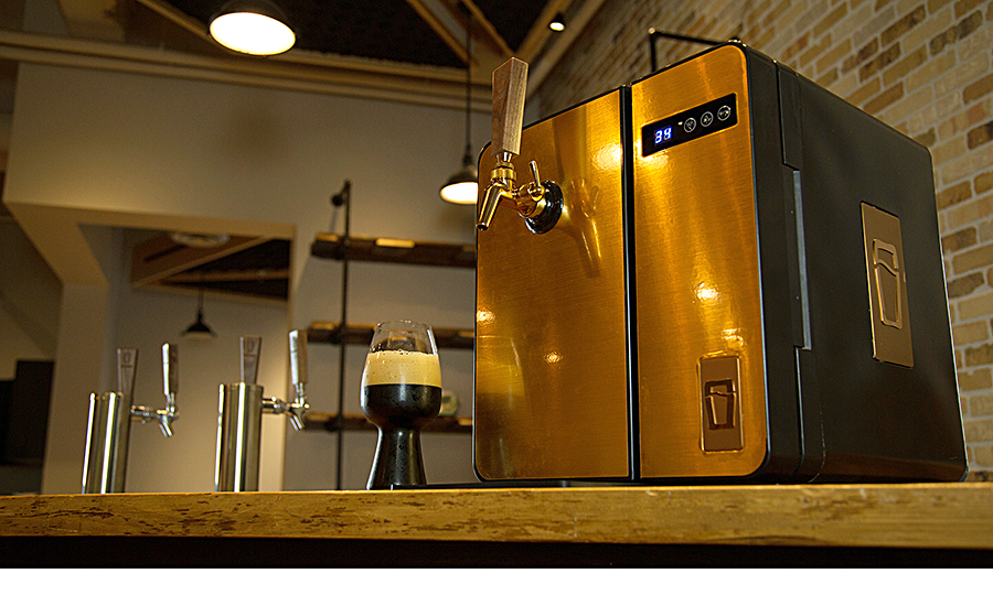 The new SYNEK countertop beer dispenser utilizes a flexible pouch ...