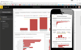 CMMS dashboard on desktop, mobile