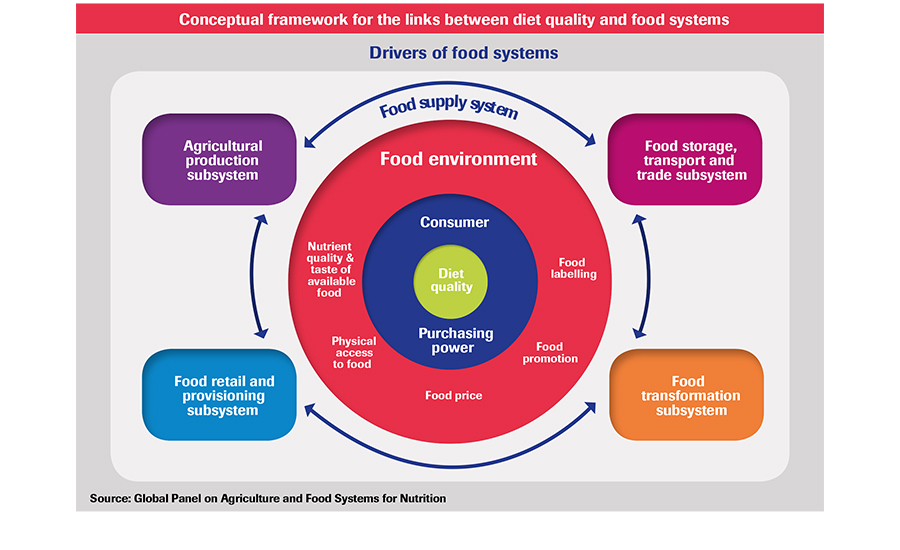 Diet Quality and Food Systems chart