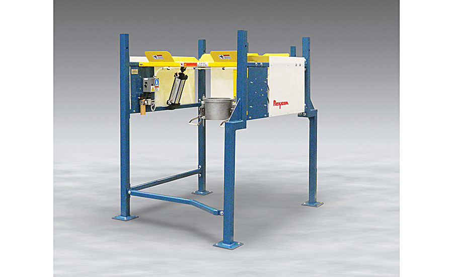 low-profile bulk bag discharger