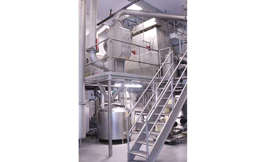 American Custom Drying food-grade spray dryer