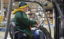 forklift driver processing shipment
