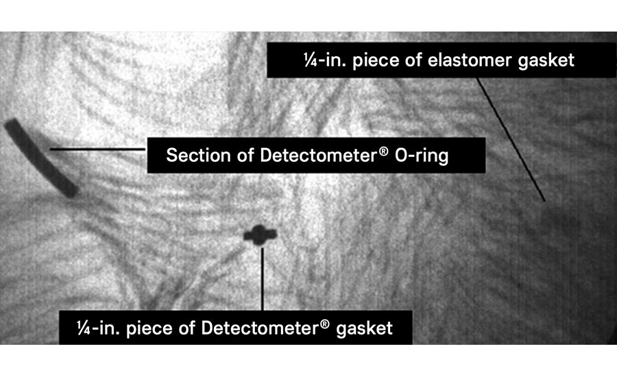 standard elastomer vs. Detectomer contaminants